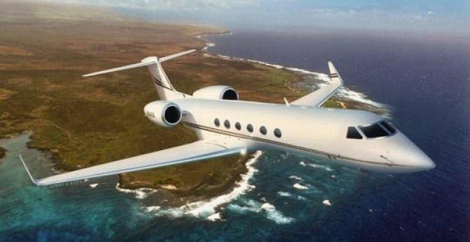 Jim Carrey Private Jet -Gulfstream V